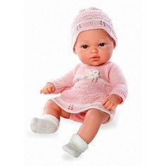 Пупс Блондинка, в розовом вязаном платье и шапочке, 33см, Arias