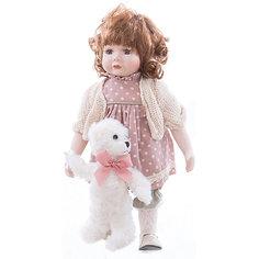 Интерьерная кукла Девочка с мишкой C21-148612, Estro