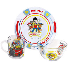 """Набор посуды """"Щенячий патруль"""" (3 предмета, стекло) МФК профит"""