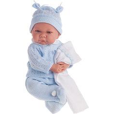 Кукла Ника в голубом, озвученная, 40 см, Munecas Antonio Juan