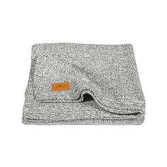 Вязаный плед 75х100 см, Jollein, Stonewashed knit grey