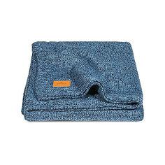 Вязаный плед 100х150 см, Jollein, Stonewashed knit navy