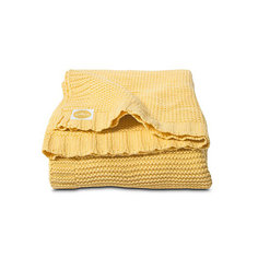 Вязаный плед Chunky Knit 100х150 см, Jollein, Yellow
