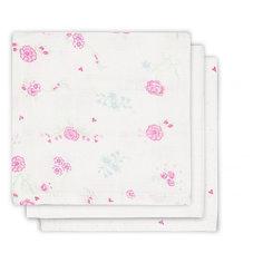 Салфетки для лица, 3 шт, Jollein, Blooming pink