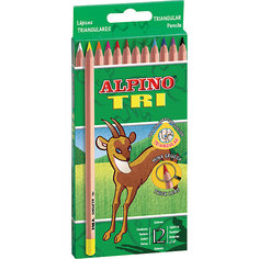 Цветные трехгранные карандаши TRI, 12 цв. Alpino