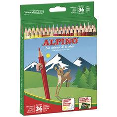 Цветные шестигранные карандаши, 36 цв. Alpino