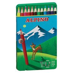 Цветные шестигранные карандаши, 12 цв. Alpino