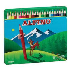 Цветные шестигранные карандаши, 24 цв. Alpino