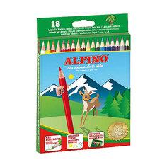 Цветные шестигранные карандаши, 18 цв. Alpino