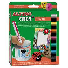 Фломастеры CREA DECOR, 7 цв. Alpino