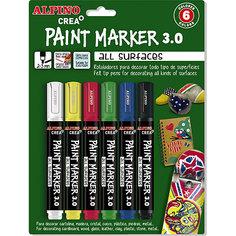 Фломастеры PAINT MARKER, 6 цветов Alpino