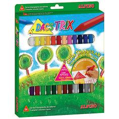 Восковые карандаши трехгранные DACSTRIX, 24 цв. Alpino