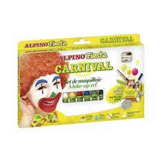 "Детский аквагрим ""Карнавал"" (макияжные карандаши), 6*5 гр, 6 цв.+комплект Alpino"