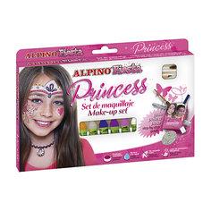 """Детский аквагрим """"Принцесса"""" (макияжные карандаши), 6*5 гр, 6 цв.+комплект Alpino"""