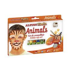 """Детский аквагрим """"Животные"""" (макияжные карандаши), 6*5 гр, 6 цв.+комплект Alpino"""