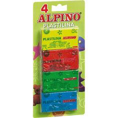 Набор пластилина, 4 * 50 гр = 200 гр, 4 цв. Alpino