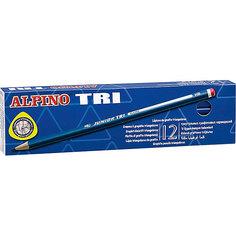 Карандаши графитные трехгранные TRI, HB, 12 шт. Alpino