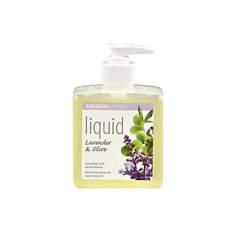 Мыло жидкое лаванда-олива с диспенсером 300мл, Sodasan