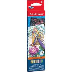 Цветные карандаши шестигранные ArtBerry Metallic, 8 цветов Erich Krause