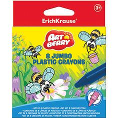 Пластиковые мелки ArtBerry jumbo, 8 цветов Erich Krause