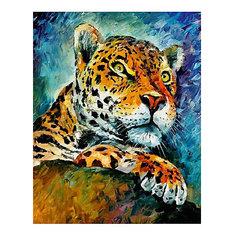 "Картина по номерам ""Афремов: Леопард"", 40*50 см Molly"
