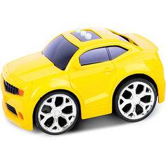 Машинка интерактивная со светом и звуком, желтая, Blue Sea