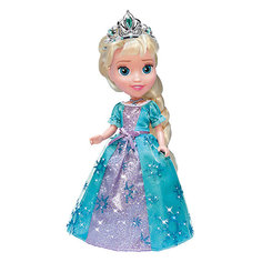 Кукла Эльза со светящимся амулетом, 25см, со звуком, Холодное сердце, Карапуз