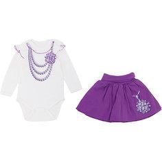 Комплект: боди и юбка для девочки Апрель