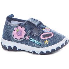 Туфли для девочки Crosby, синий джинс