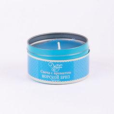 Свеча декоративная ароматизированная парафиновая с ароматом морского бриза, Феникс-Презент