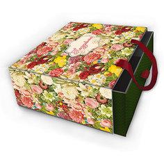 """Коробка подарочная """"Райский сад"""", 18х18х9,5см., Феникс-Презент"""