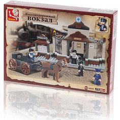 """Конструктор """"Железнодорожный вокзал: Прошлый век"""", 175 деталей, Sluban"""