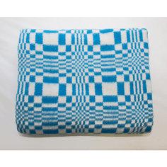 Одеяло байковое, хлопок, Клетка Baby Nice, голубой