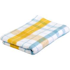 Одеяло жаккард, хлопок и пан, Клетка Baby Nice, голубой