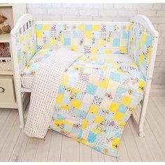 Комплект в кроватку 6 пред., Совы Baby Nice, голубой