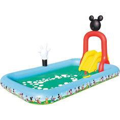 Игровой бассейн с брызгалкой и принадл. для игр, Микки Маус, 436 л, Bestway