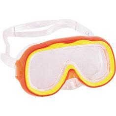 """Детская маска для подводного плавания """"Исследователь"""", оранжевая, Bestway"""