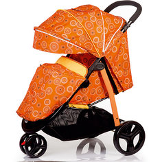 Прогулочная коляска BabyHit Trinity, оранжевая с полосками