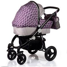 Коляска 2 в 1 BabyHit VALENTE, фиолетово-серый