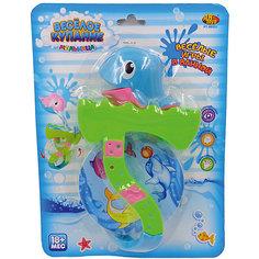 """Дельфин для ванной, с аксессуарами, """"Веселое купание"""", 2 предм, в ассортименте, ABtoys Moose"""