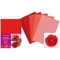 Набор фоамирана, 10листов, 1мм, А4, 5 цветов в ассортименте, красная палитра Schreiber