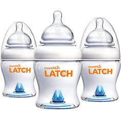 Бутылочка для кормления LATCH, 120 мл., 3 шт., Munchkin
