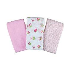 Набор пеленок Muslin Swaddleme, 3 шт.,Summer Infant, розовый/бабочки