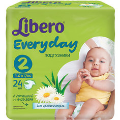 Подгузники Everyday, Mini 3-6 кг (2), 24 шт., Libero