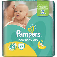 Подгузники Pampers New Baby-Dry Mini, 3-6 кг, 2 размер, 27 шт., Pampers