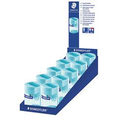 Точилка пластиковая бочонок, голубой, Staedtler