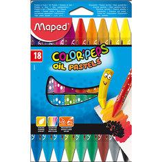 Пастель масляная 18 цветов, MAPED