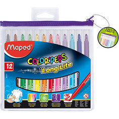 Фломастеры COLORPEPS, 12 цветов, MAPED