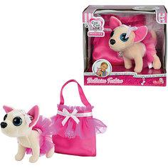 Мягкая игрушка с сумочкой Chi Chi Love - Чихуахуа в балетной пачке, 15 см, Simba