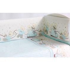 Комплект в кроватку Мишки, 6 пред., Pituso, голубой